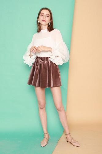 45d9bb1b4 Sidney Velvet Flare Skirt