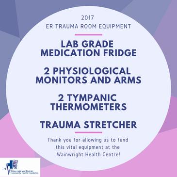 2017 - ER Trauma Room Equipment