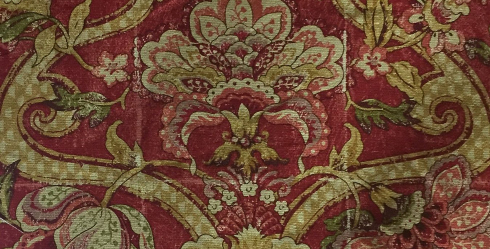 Red French Country Floral