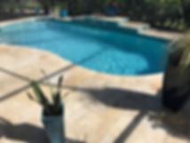 pebble pool finish and country classic travertine deck