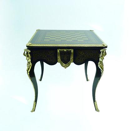 Tavolo da gioco con n. 4 sedie in stile Napoleone III