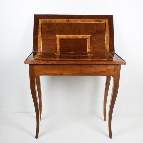 Tavolino da gioco in noce e palissandro
