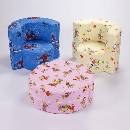 Foteljica za djecu okrugla
