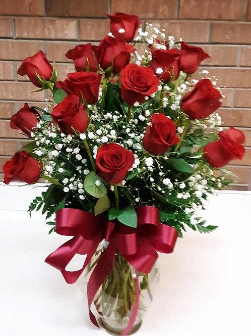 24 Roses Vased