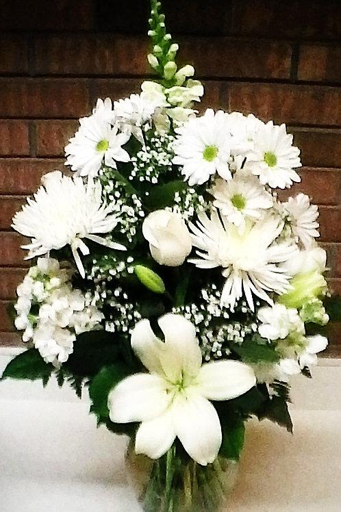 FFW 2-8, All White Vase