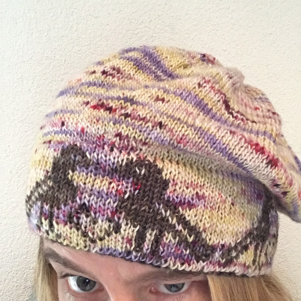 Hat with double face border