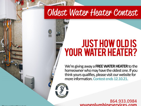 Oldest Water Heater Contest