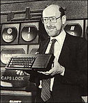 Clive Sinclair with the QL