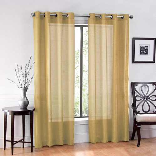 "Ruthy's Textile 2 Piece Window Sheer Curtains Grommet Panels 54"" X 120"" Total 12"