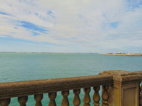 La bahía desde la balaustrada de la Alameda