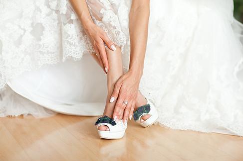 Zapatos de novia de Gabriela