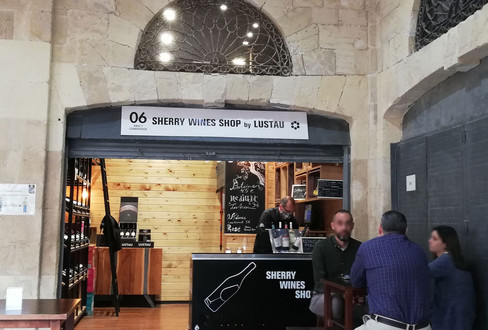 Sherry wineshop by Lustau.