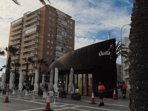 Bar La Quilla, en donde Javier y Patricia se sientan a charlar