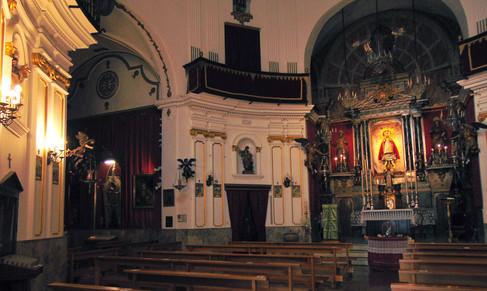 Interior iglesia de la Palma