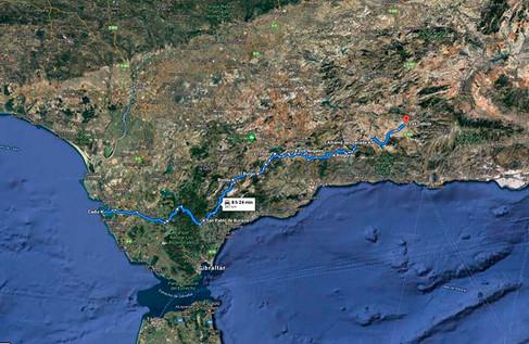 Plano topográfico de la ruta motera