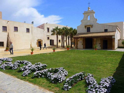 Interior del castillo de Santa Catalina
