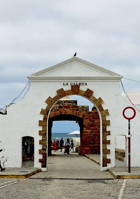Entrada a La Caleta