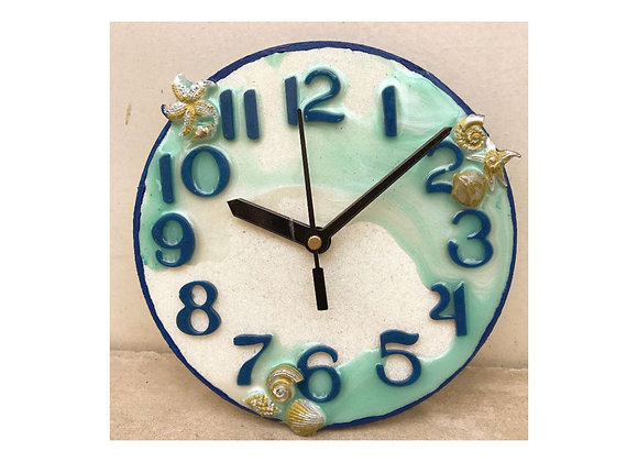 Sea Beach Clock Face