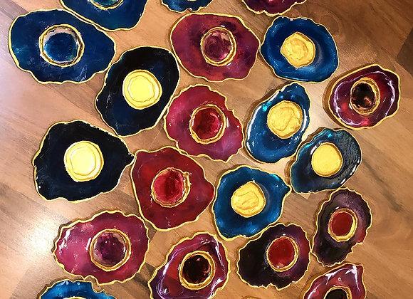 Agate Tea Light Coasters (Set of 4)