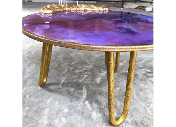 Purple and Gold Cake Tray With Stand