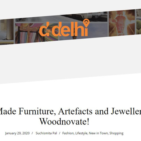 Woodnovate featured in dfordelhi