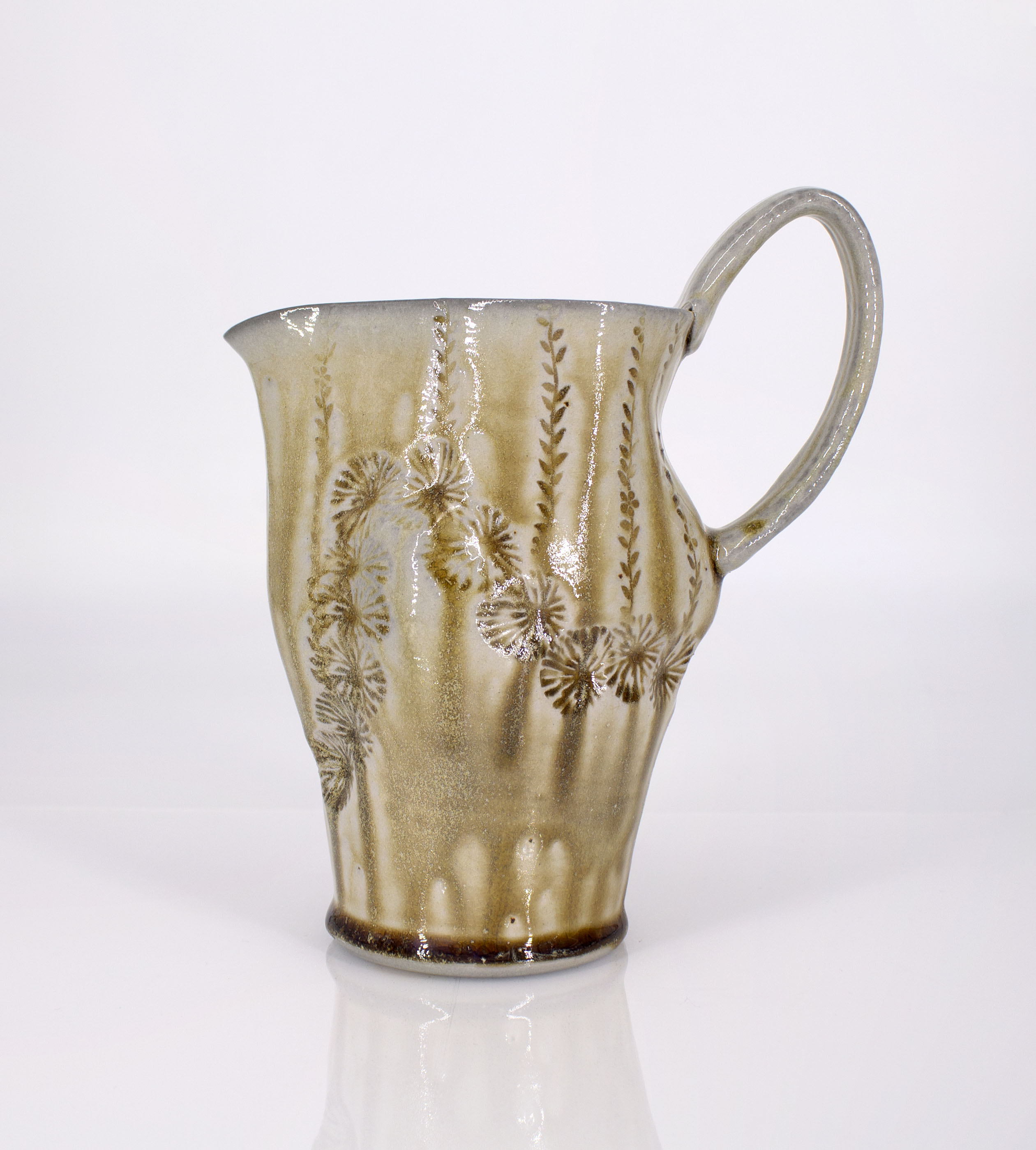 Soda fired small pitcher, 2020