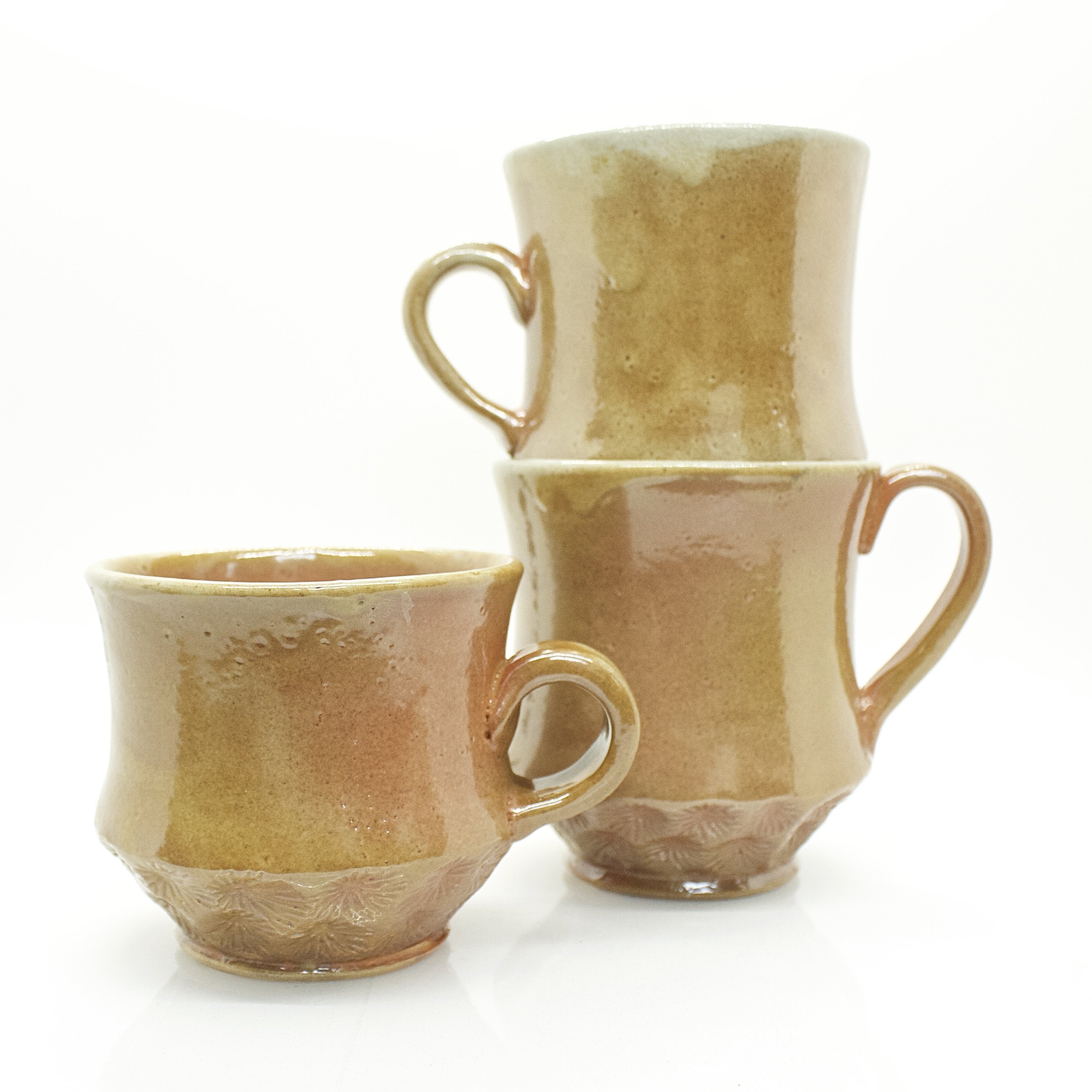 Soda fired mugs, 2019
