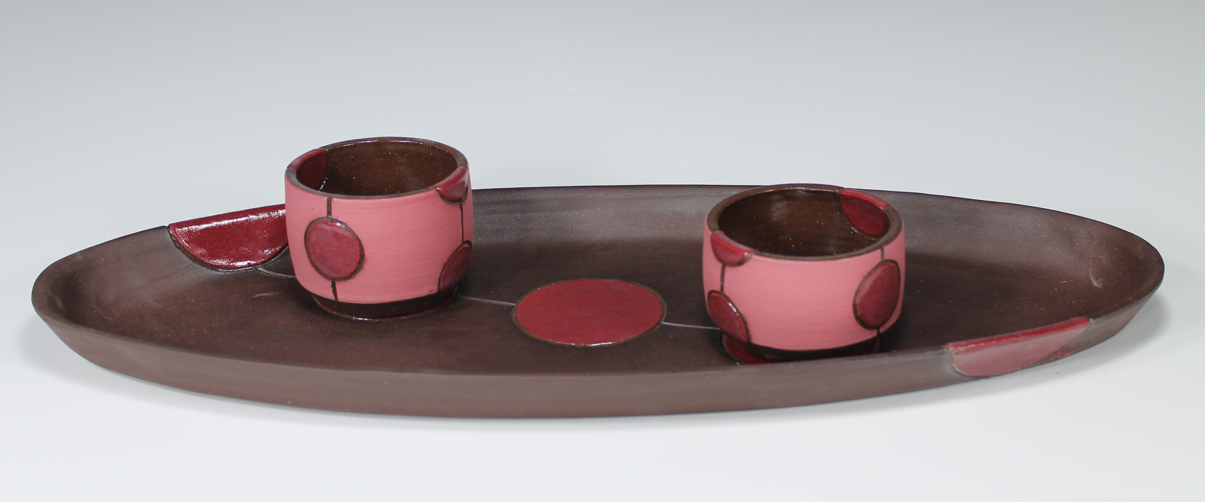 Platter with two dip bowls, 2014