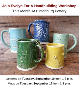 Handbuilding Workshop with Evelyn Thain in September 2019 at Hintonburg Pottery