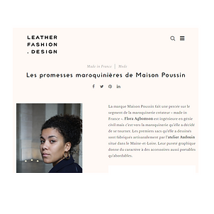 Maison Poussin x Leather Fashion Design.