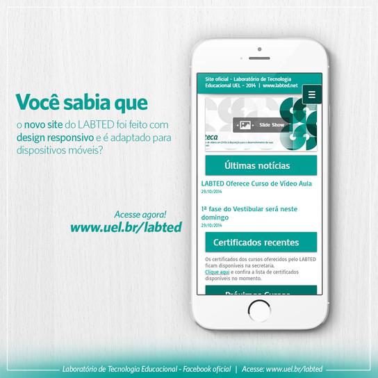 Site com design responsivo e adaptado para dispositivos móveis