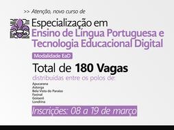 Novo: 2021 - Especialização em Ensino de Língua Portuguesa e Tecnologia Educacional Digital