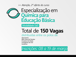Novo: 2021 - Especialização em Química para Educação Básica