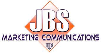 "JBS Marketing Communications Logo: ""JBS Marketing Communications"" superimposed over an orange and white diamond"