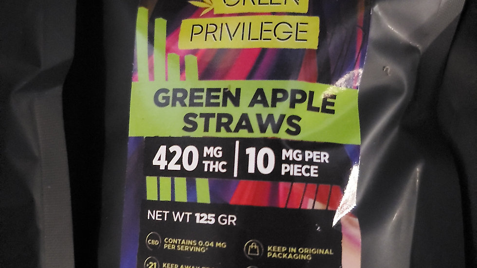 Green apple straws