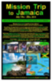 Jamaica Mission Trip 2019 Poster 11by17
