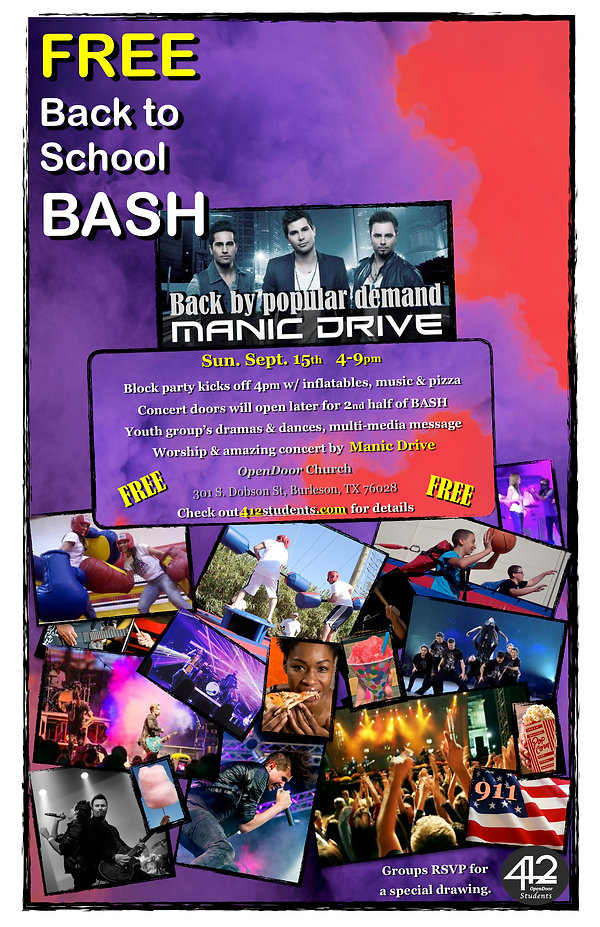 Back to School BASH - Sept. 15th, 2019 P