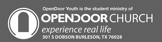 OpenDoor Youth is student church website