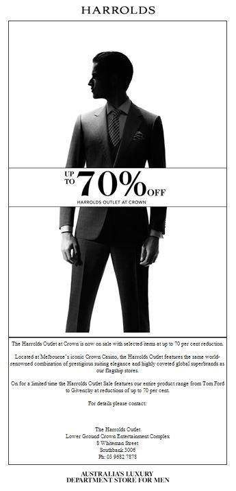 HARROLDS 70% OFF!!!!