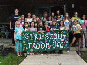 Girl Scouts earned their art badge at Art House!