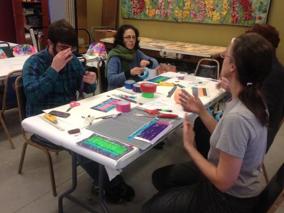 Corporate retreats build teamwork through the creation of art.
