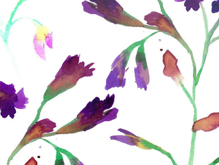 New prints - a (slightly wilting) May bouquet