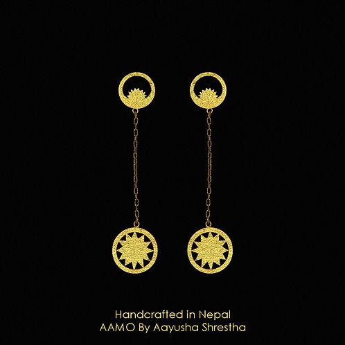 Chandra Surya Chain Earrings