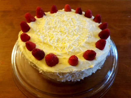 Recipe: White Chocolate-Raspberry Cake with Coconut