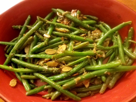 Recipe: Sautéed Green Beans with Garlic, Almonds, and Parmesan