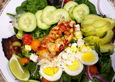 Lobster Cobb Salad & Citrus Mango Basil Vinaigrette