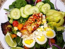Lobster Cobb Salad & Citrus Mango Basil Vinaigrette