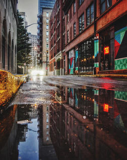 """""""Downtown Reflections"""" by Deby Saleh"""