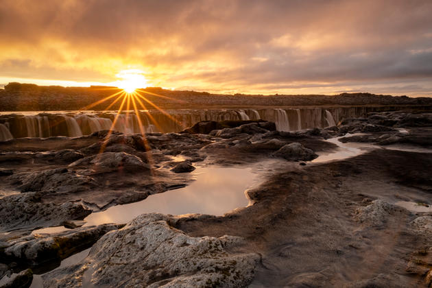 Chris Anderson Sunset Over Selfoss Water