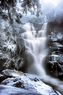 Ramsey Cascades Winter by Brad Burgess